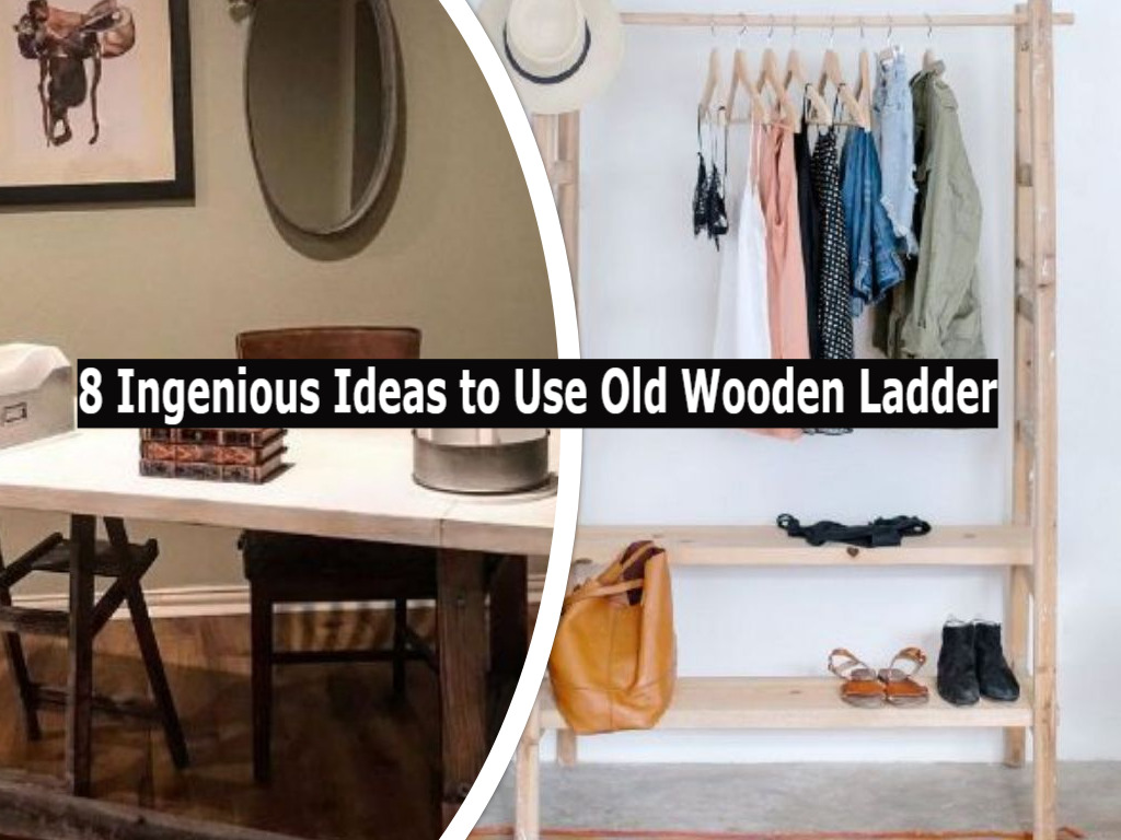 8 Ingenious Ideas To Use Old Wooden Ladder