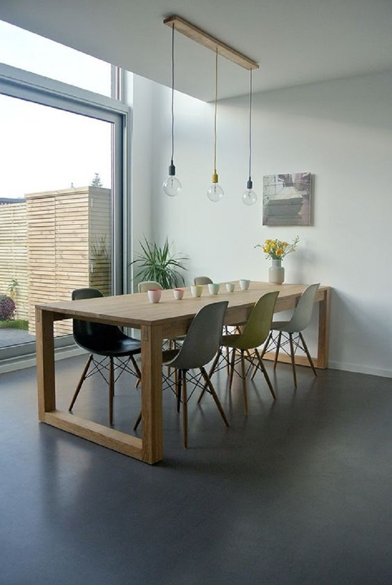Dining Room With Concrete Floors