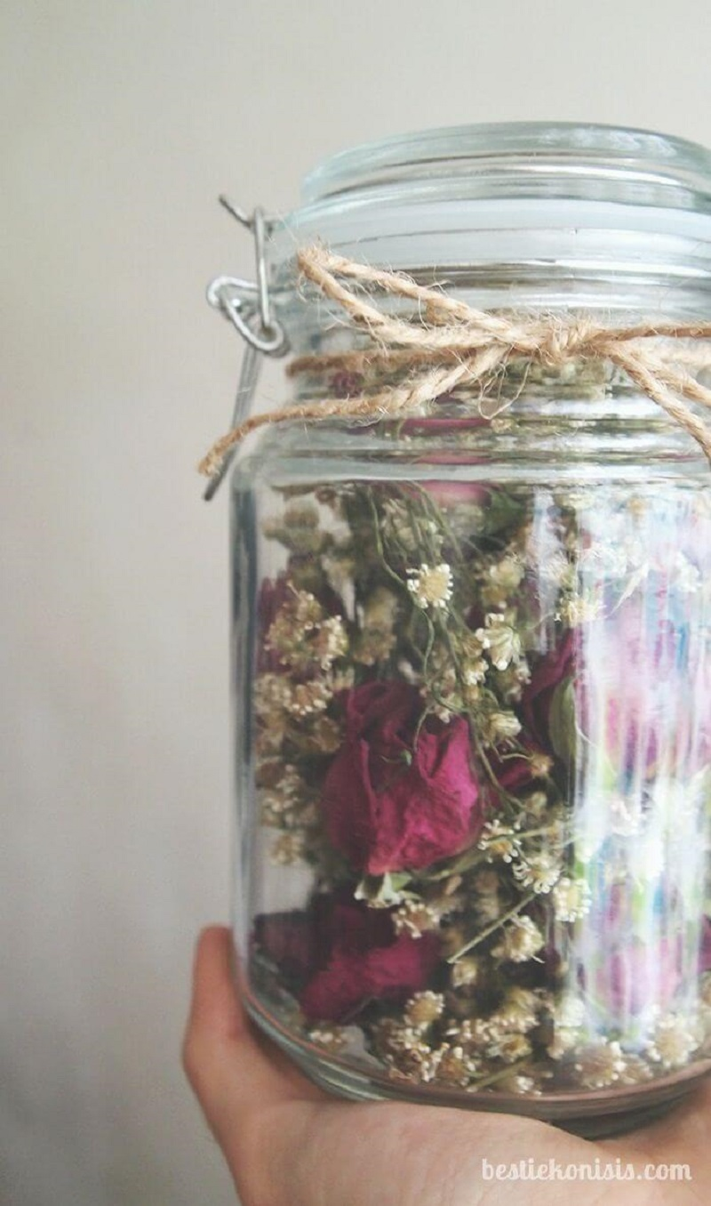 Dried Bouquet In A Jar