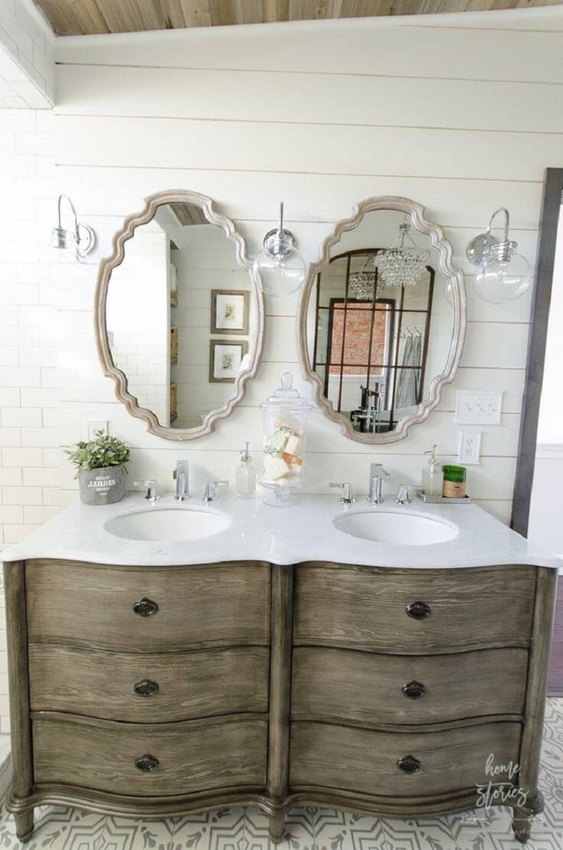 Dual Vanity Sink Mirrors