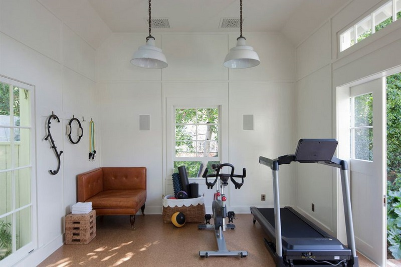 Modern Farmhouse Home Gym