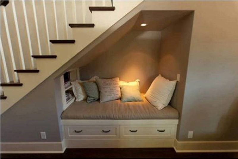 Reading Nook Under The Stairs