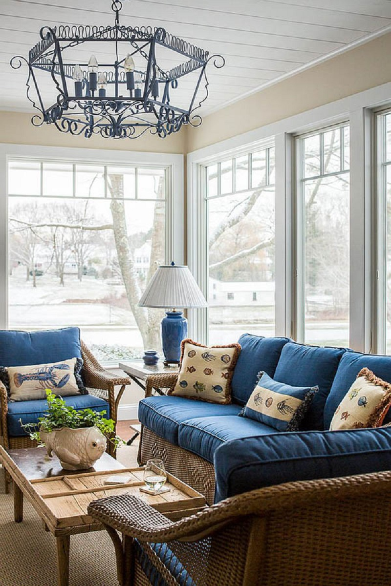 Timeless Coastal Sunroom