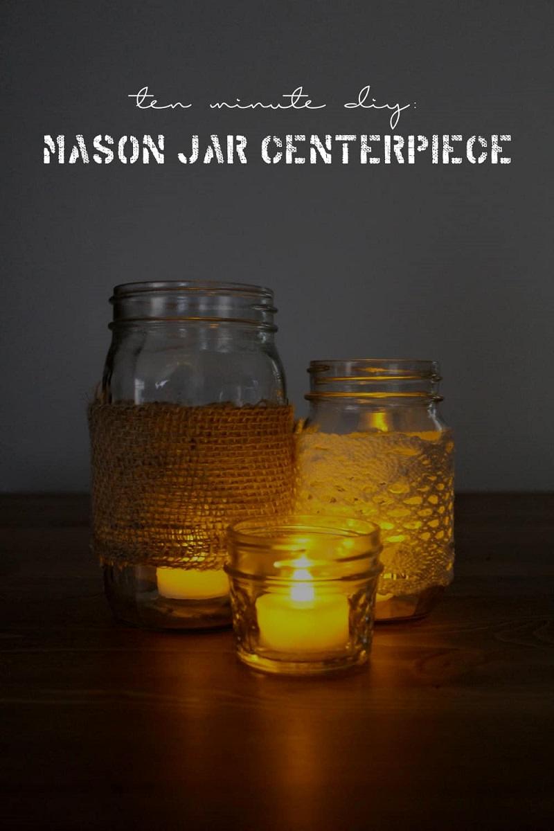Twine And Cloth Mason Jar