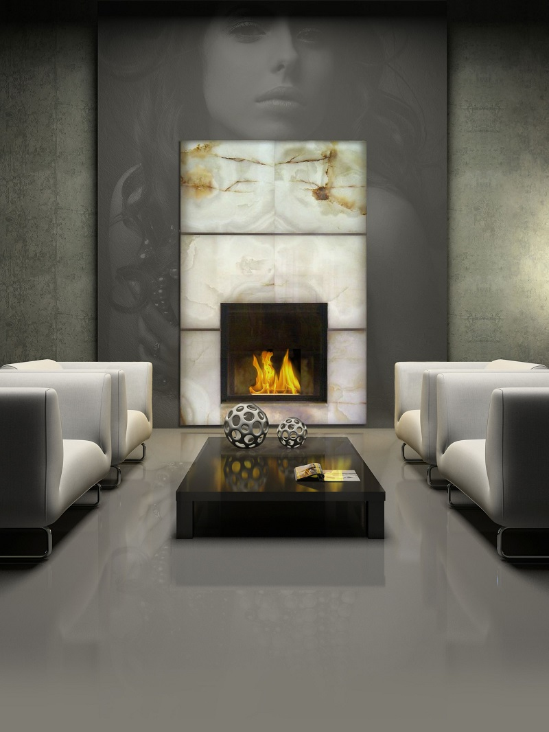 Fireplace Onyx Wall