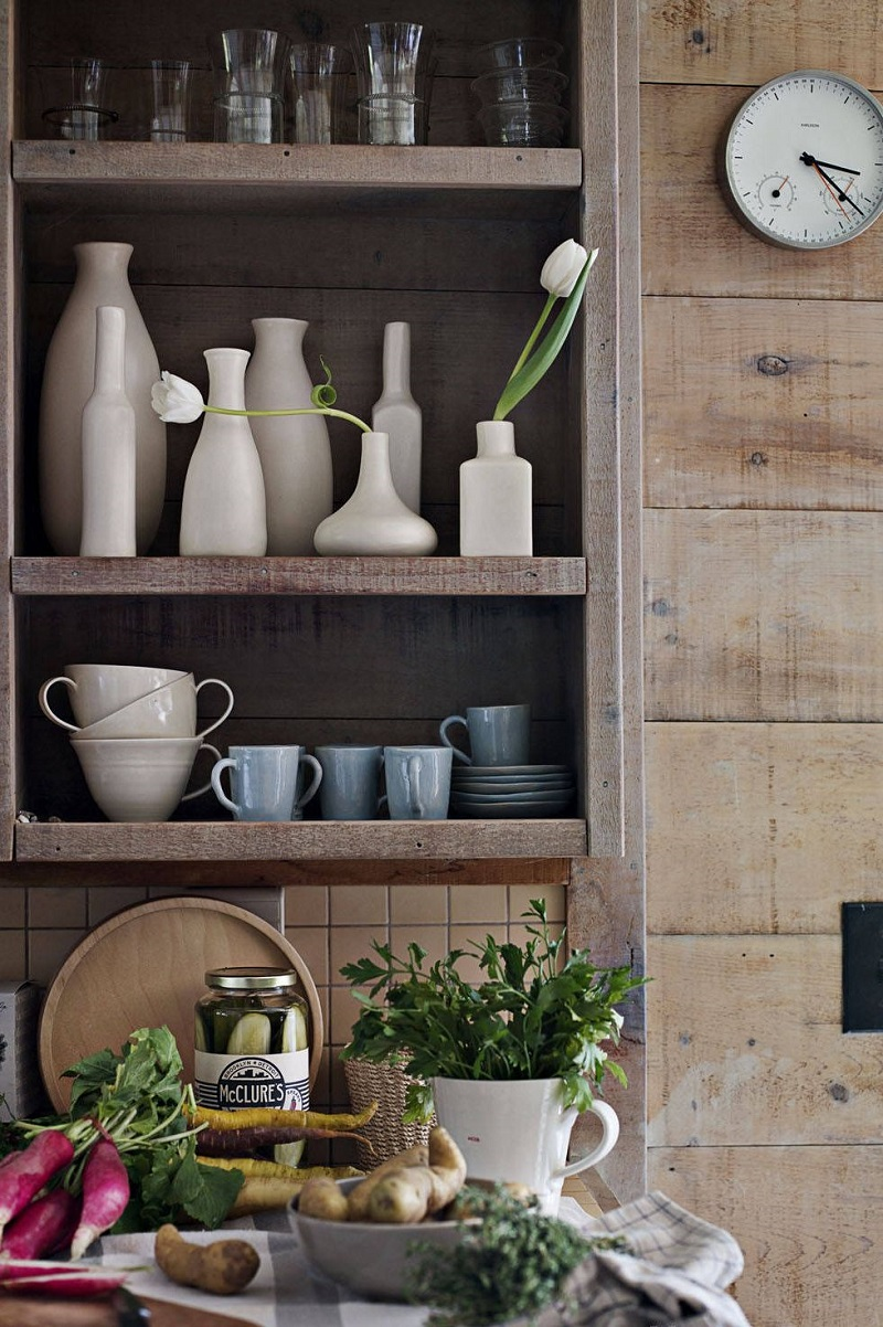 Rustic Open Shelving