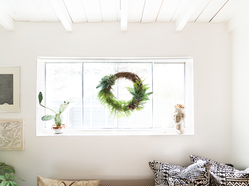 Wreath In Window