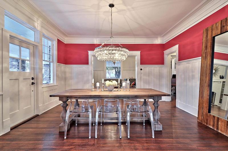 Craftsman Red Dining Room