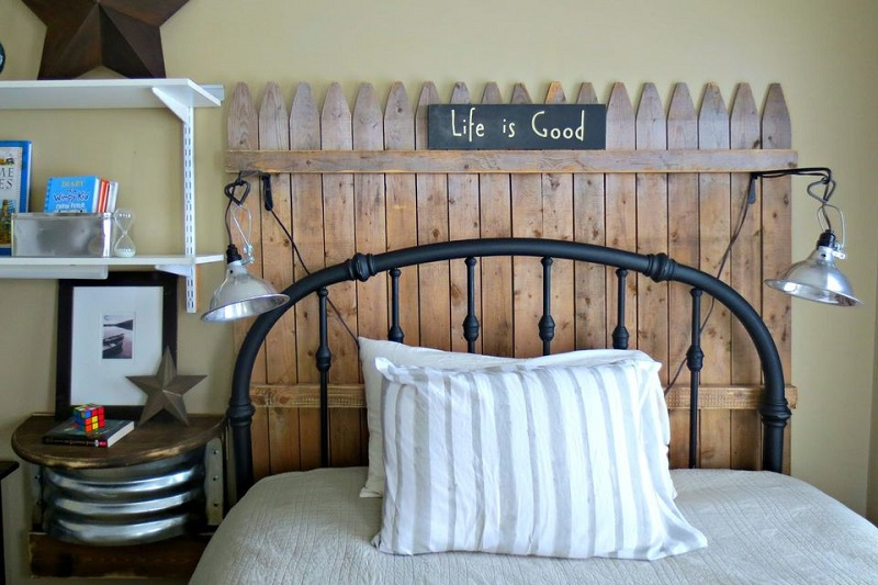 Headboard With Fence Pickets