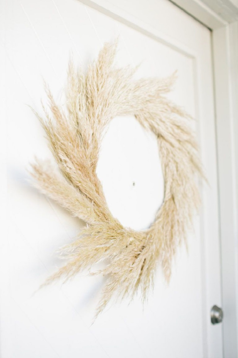 Pampas Grass As DIY Wreath