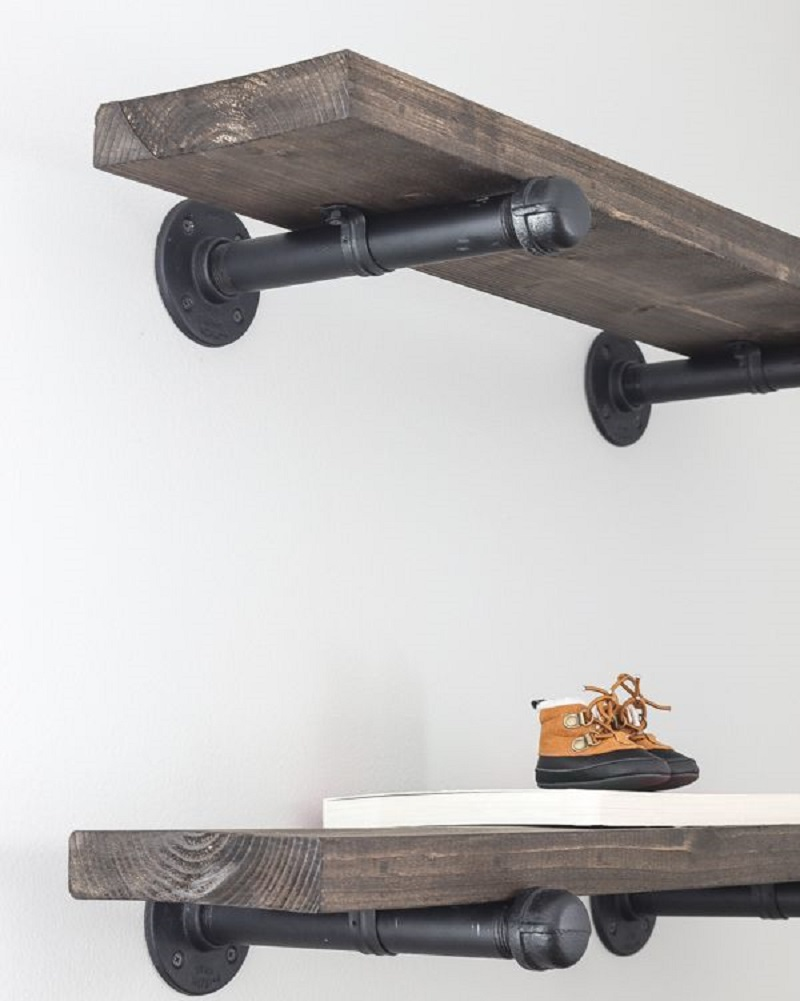 Industrial Pipe Shelves