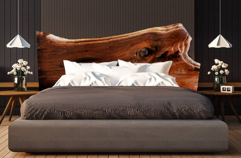 Custom Live Edge Headboard Design