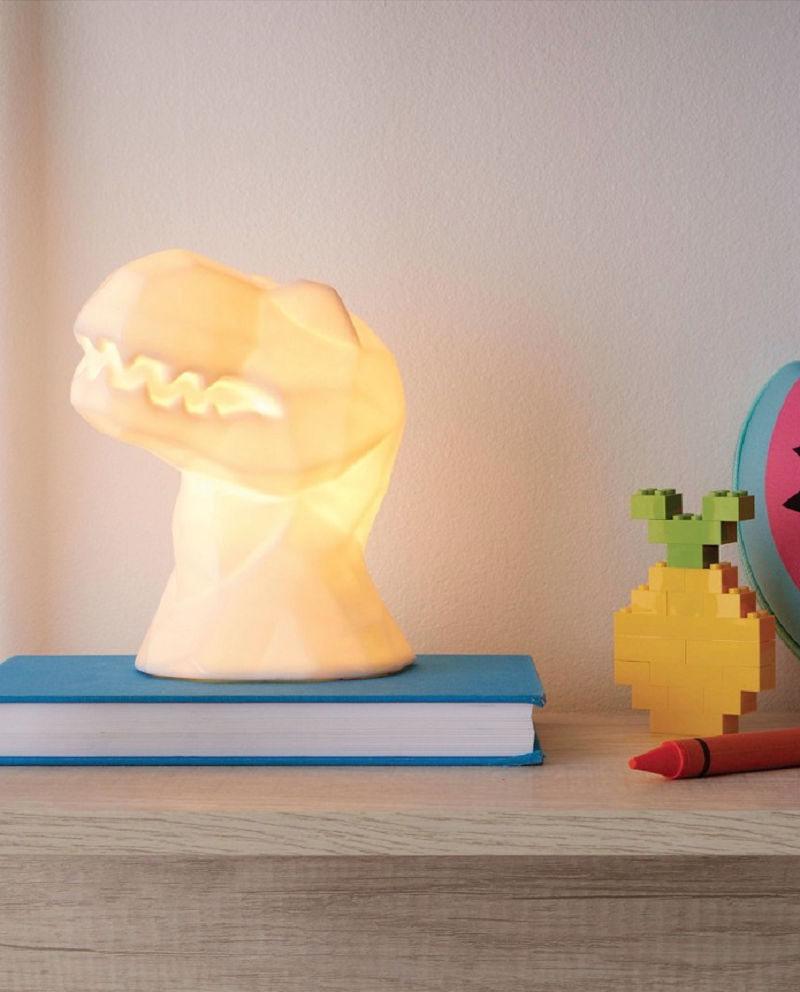 Faceted Dinosaur Night Light