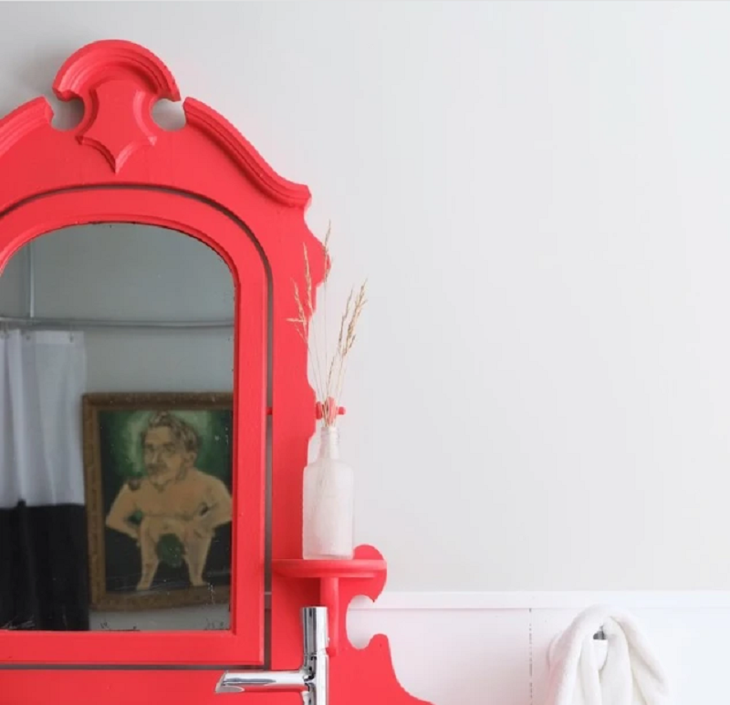 Fanciful Red Vanity