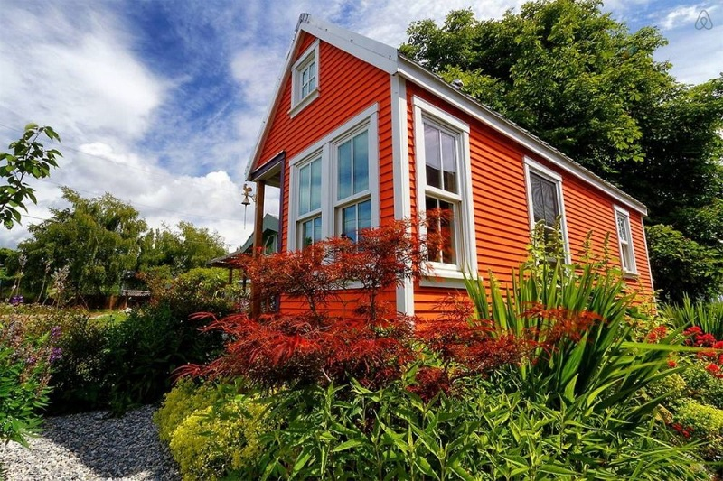Tiny Orange House Exterior