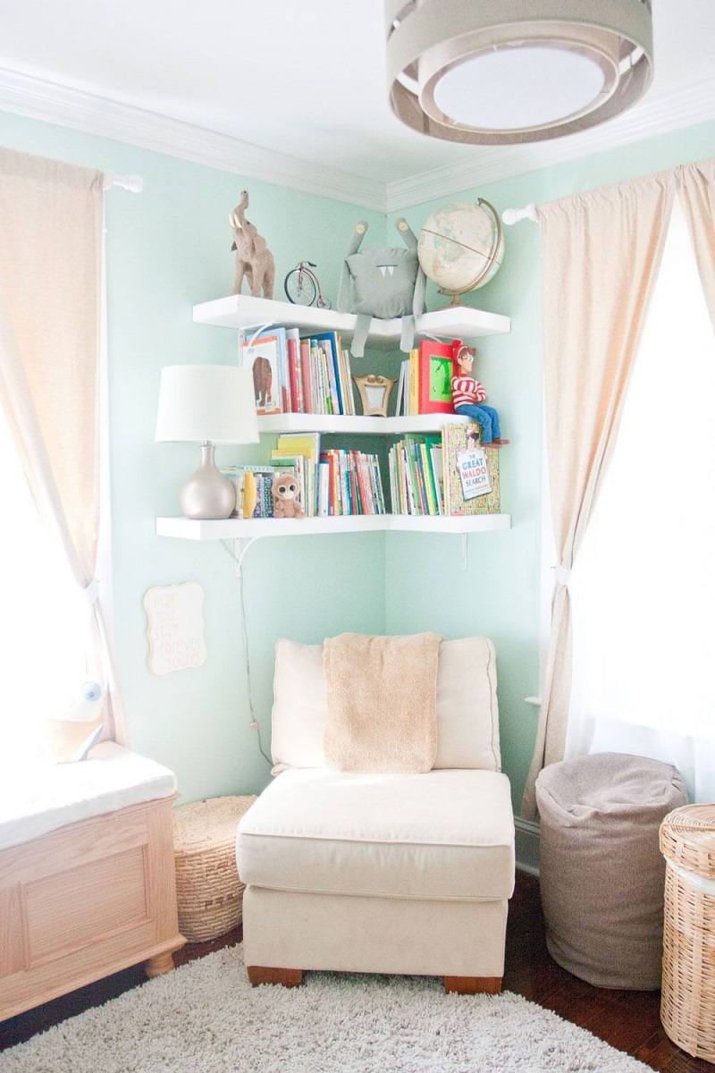 Nursery Floating Shelves