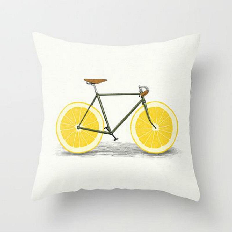 Orange Bike Pillow