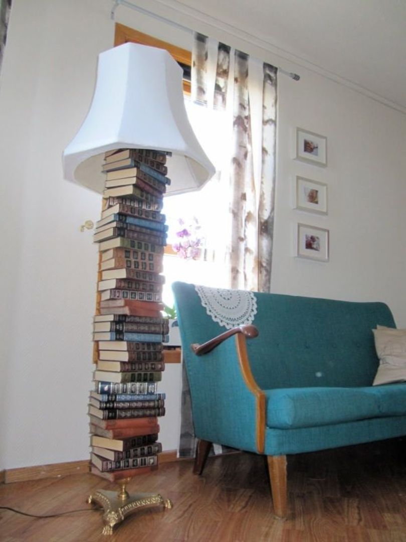 Vertical Books Storage Lamp Floor