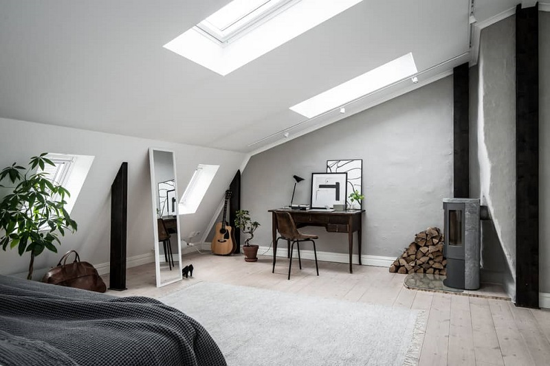 Attic Scandinavian Home Office