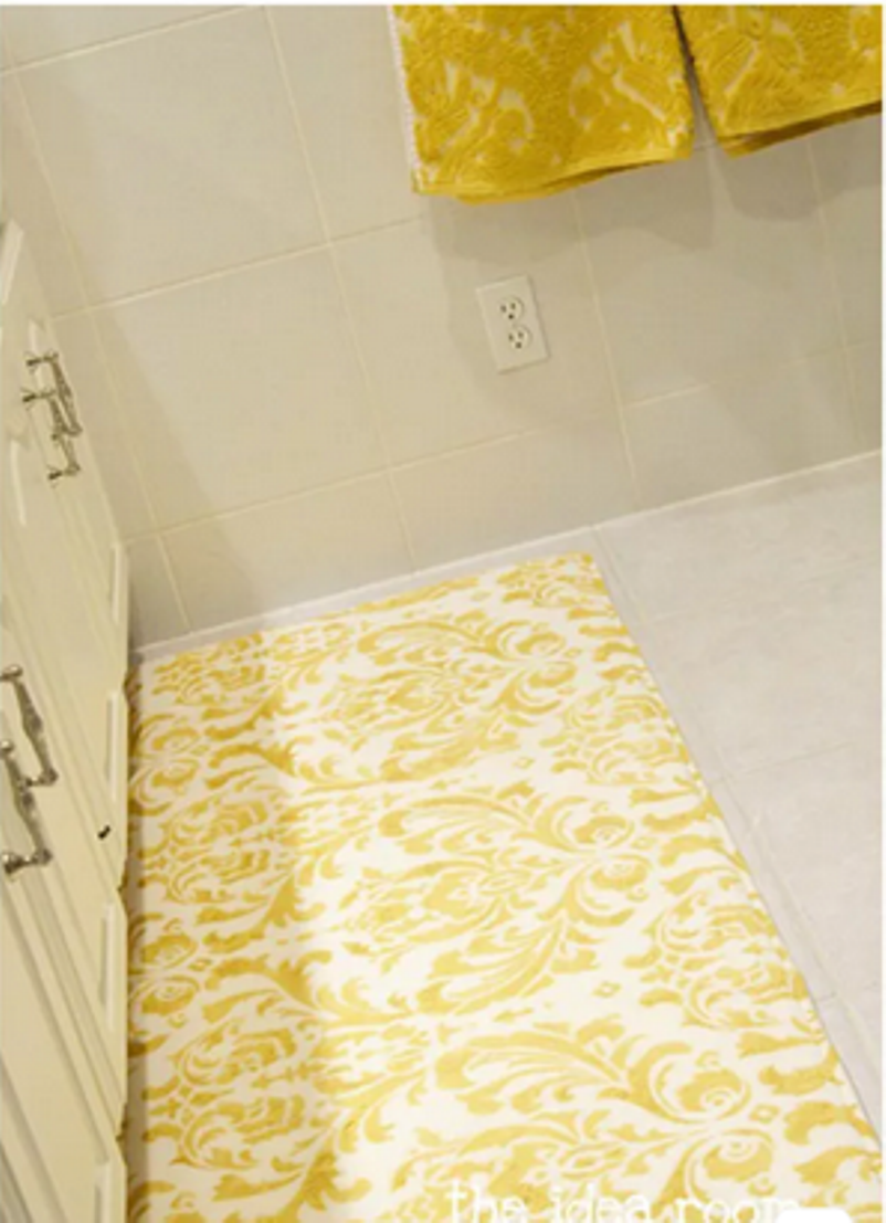 Creative Stenciled Damask Rug