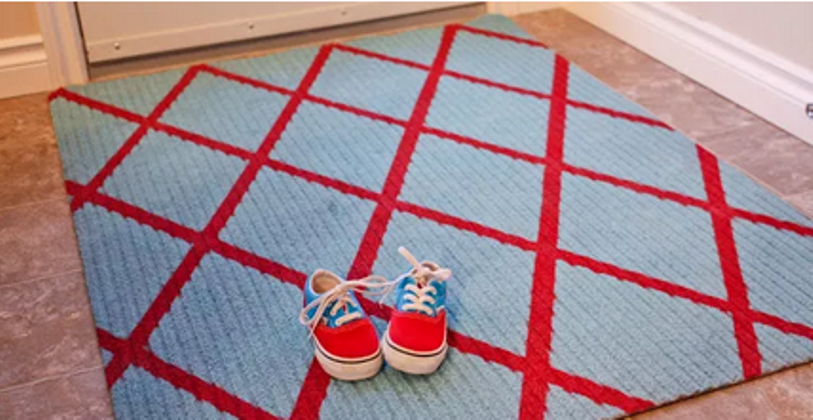 Diagonal Striped Rug