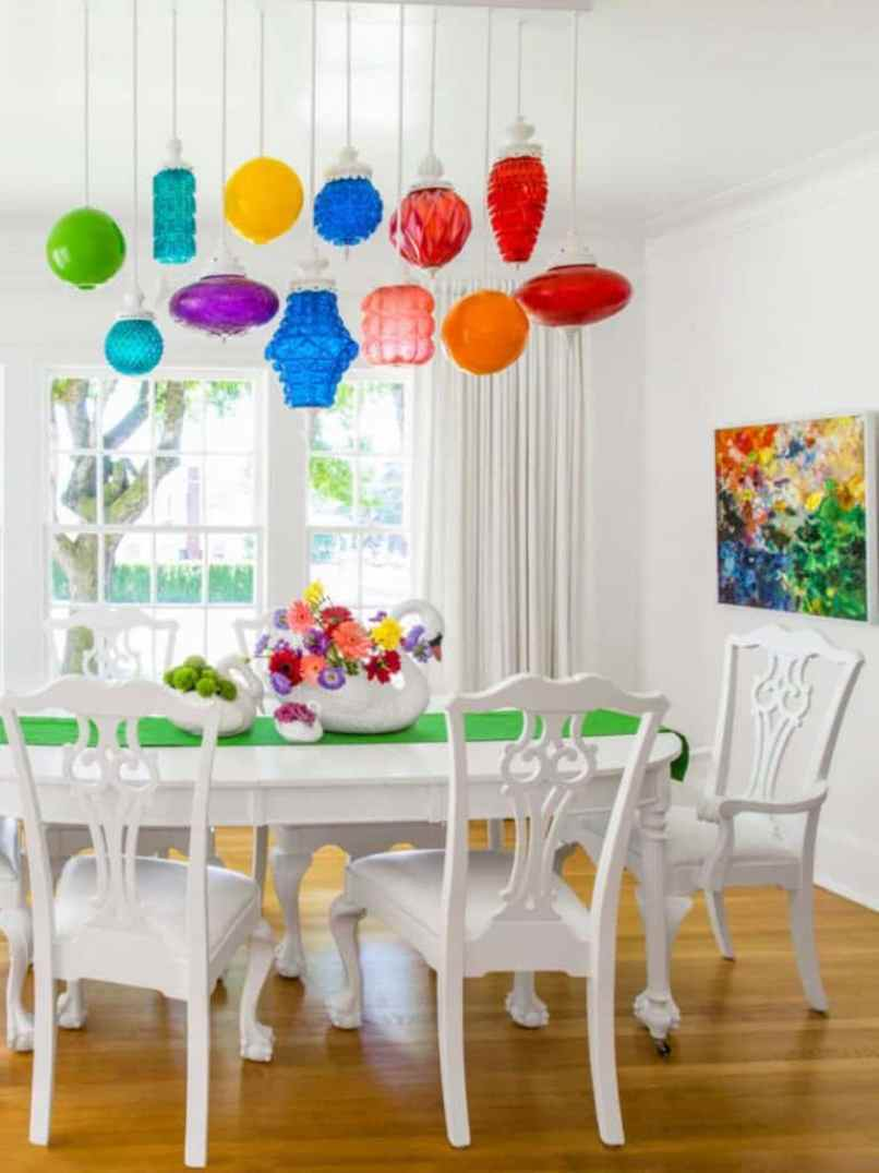 Dining Room With Rainbow