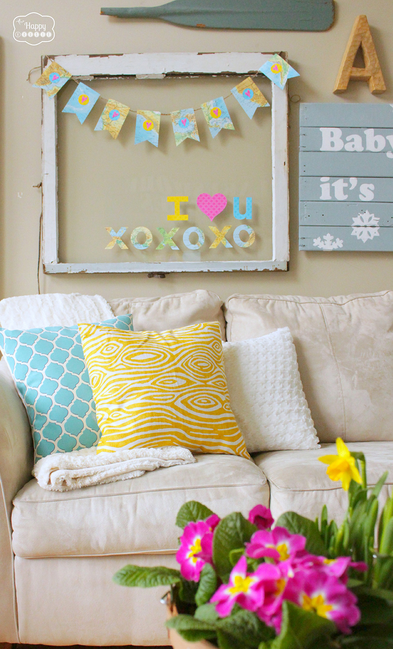 Easy Map Heart Bunting