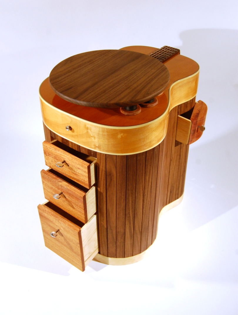 Guitar Table With Compartments