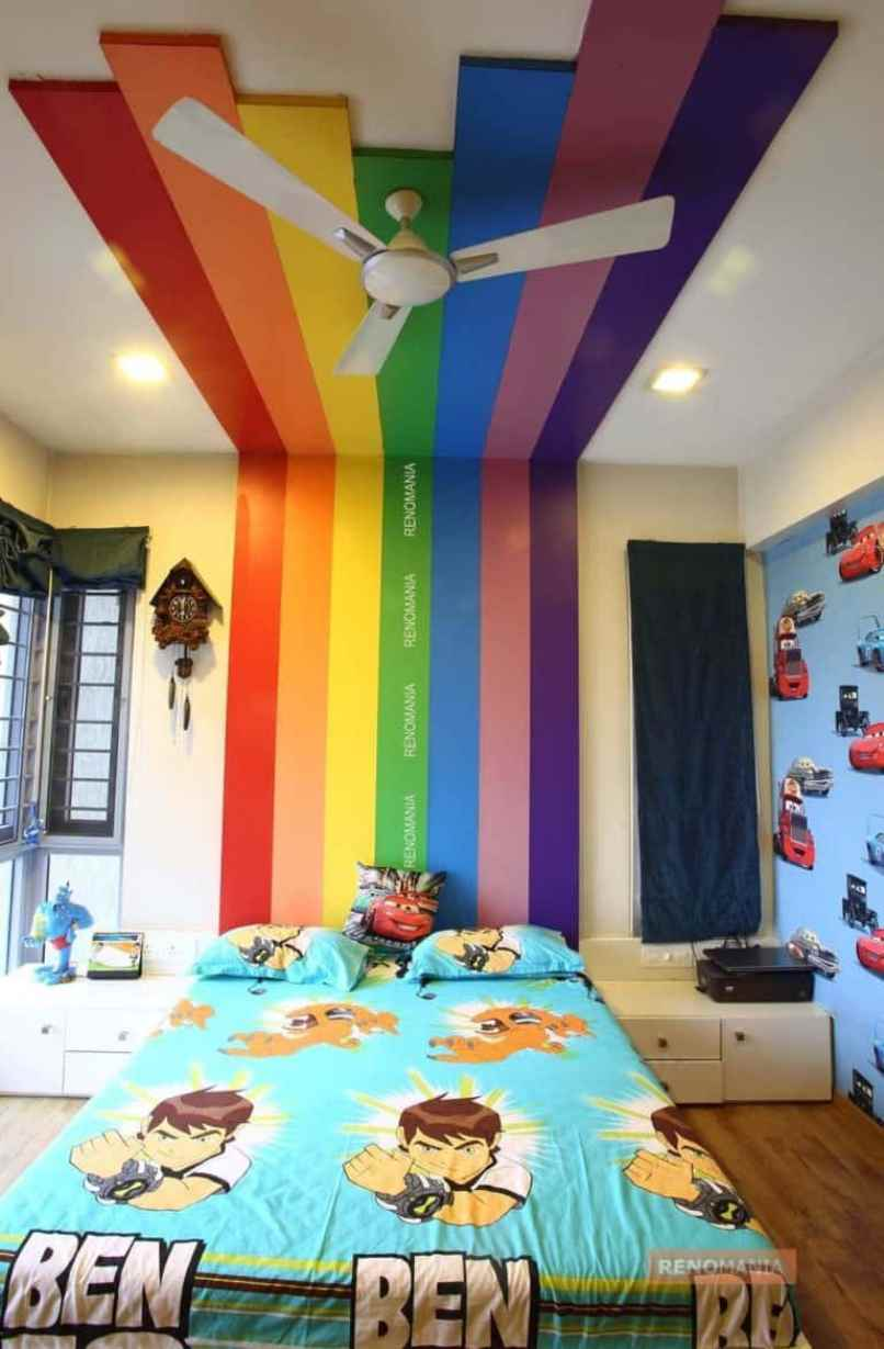 Kid's Room With Rainbow