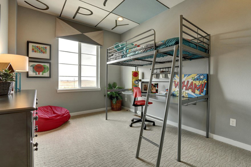 Metal Loft Bed For Retro Look