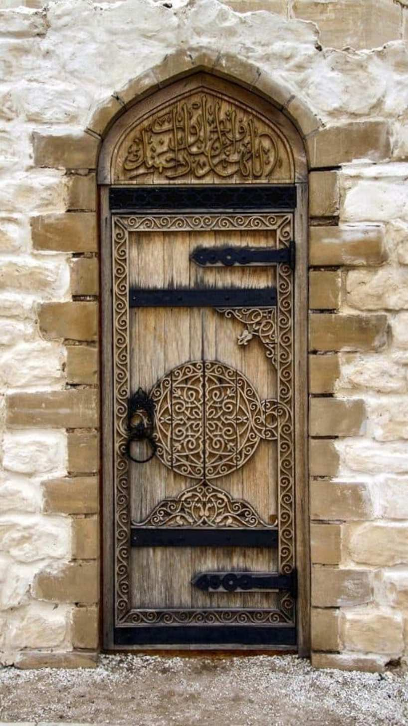 Middle East Hand Carved Door