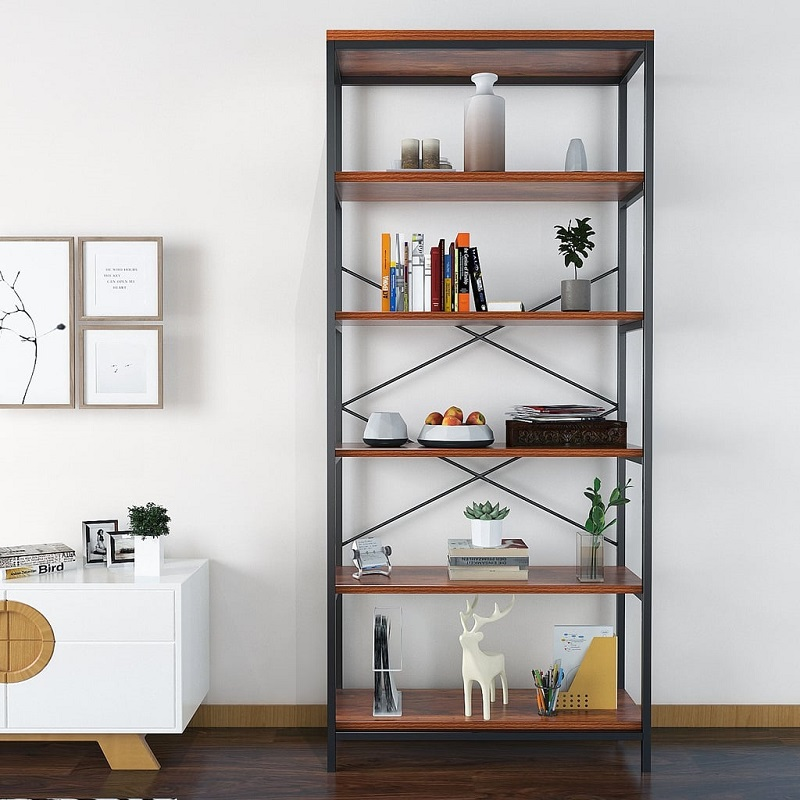 Modrine 5 Shelf Bookcase