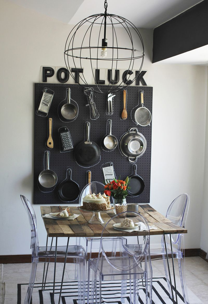 Pots And Pans Pegboard
