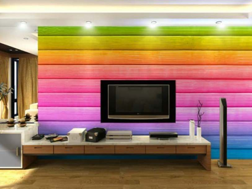 Rainbow Striped Wall