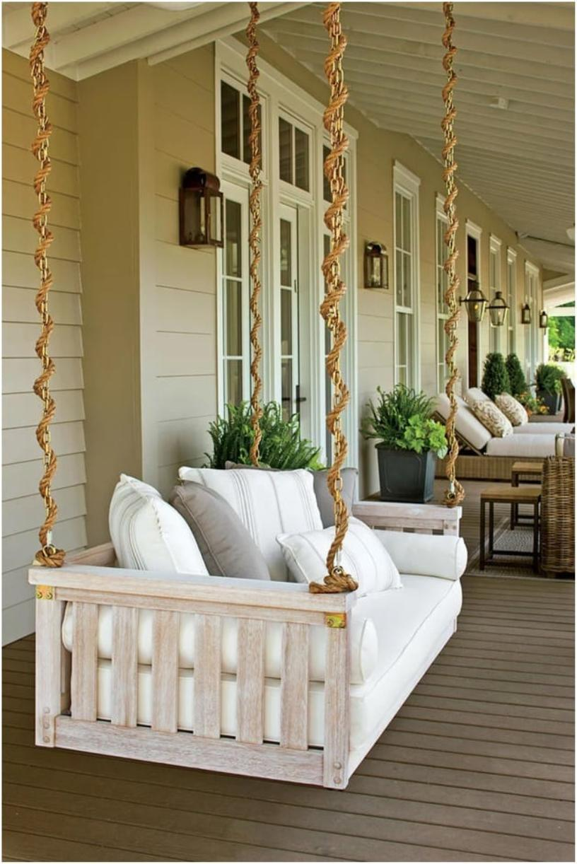 Royal White Porch Swing