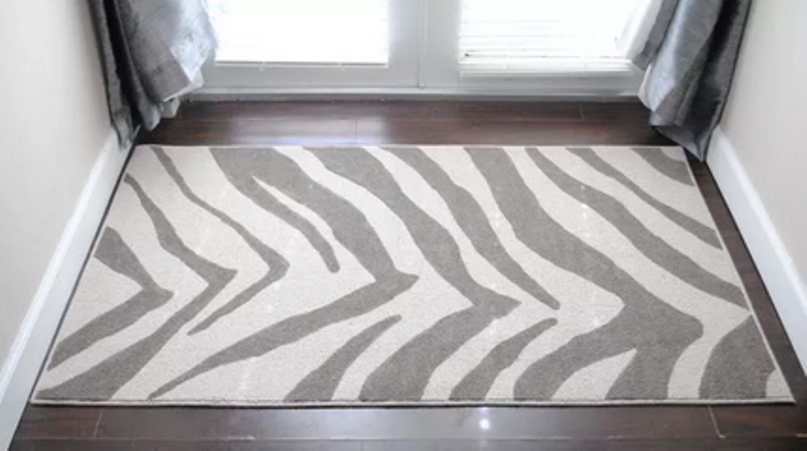 Rug With Zebra Pattern