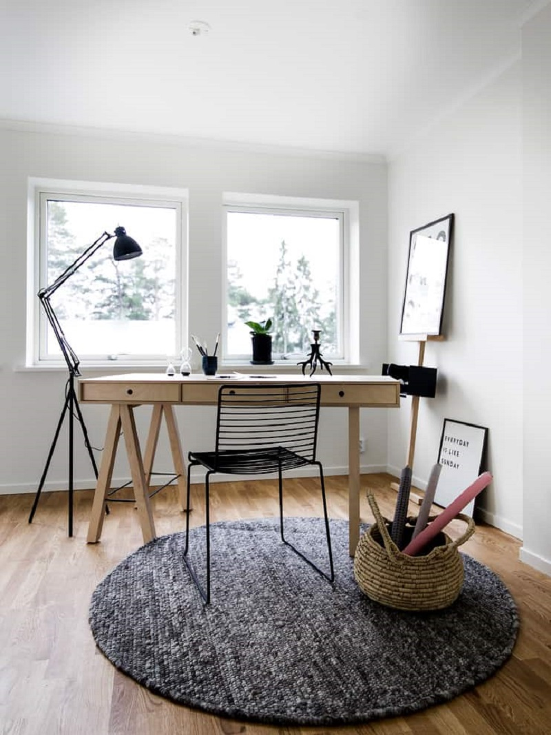 Scandinavian Home Office At Nook