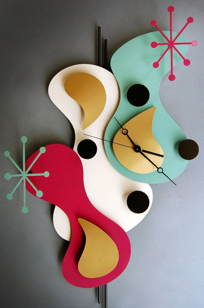 Teardrop Clock Raspberry