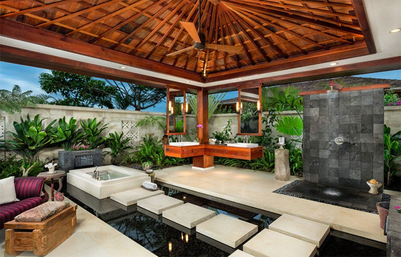 Tropical Bathroom Spa