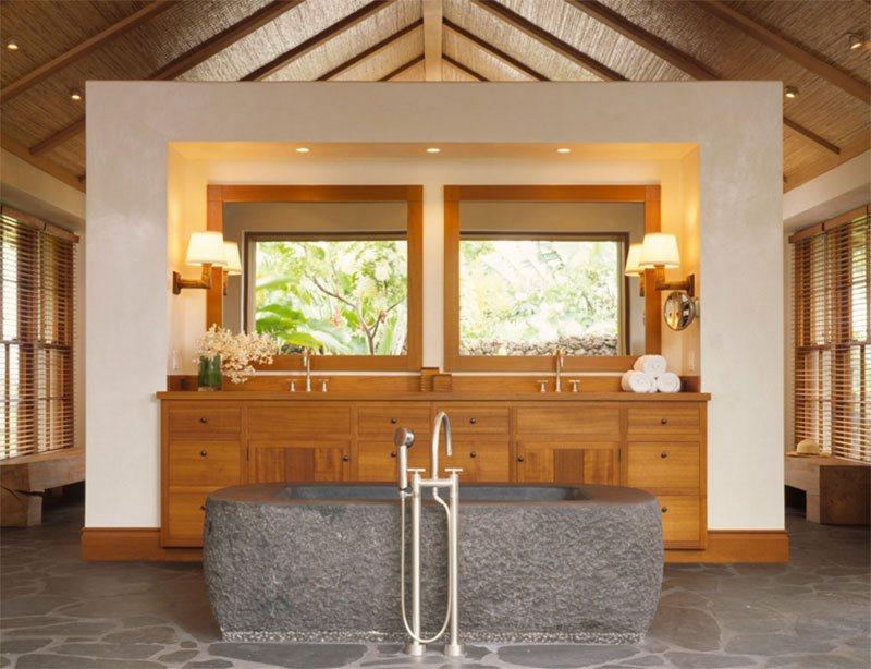 With Stone Bath Tub