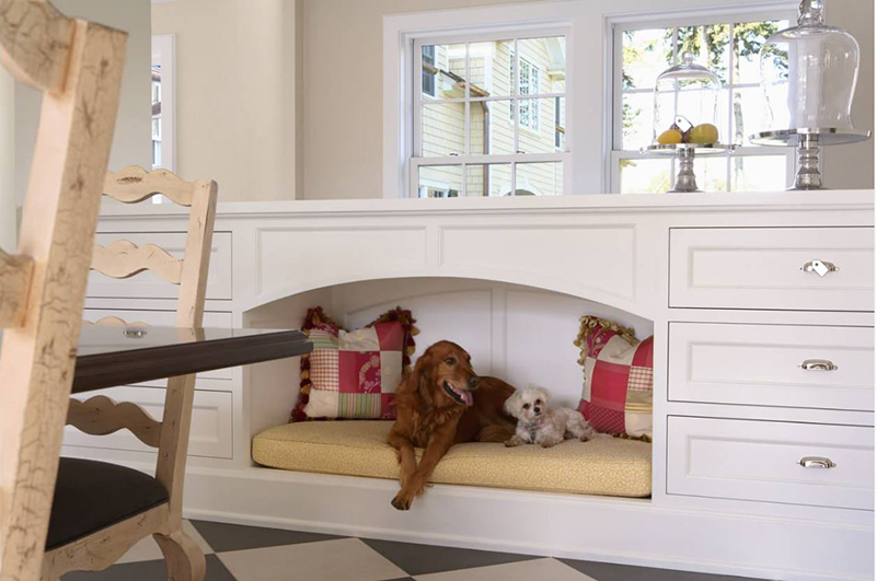 Built In Inset Nook For Dog