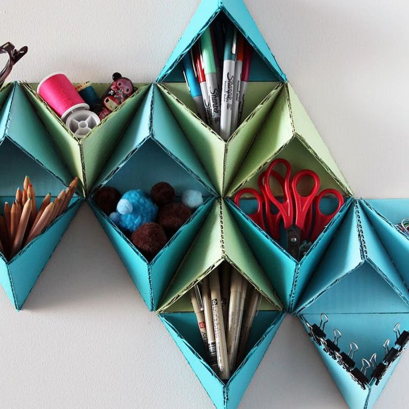 Colorful Triangular Wall Storage