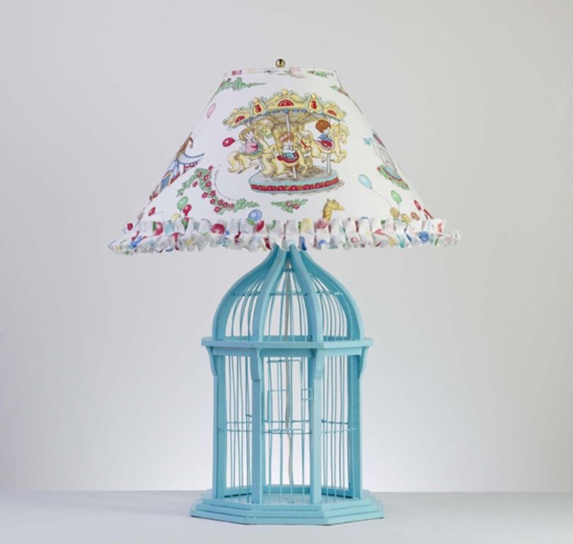 Beautiful Birdcage Lamp