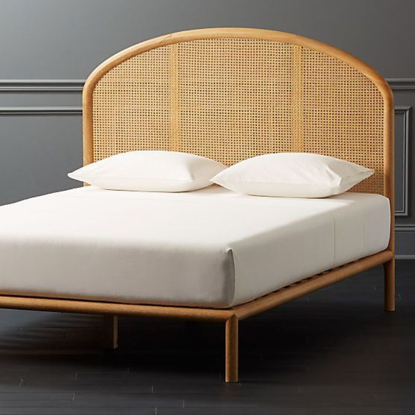 Bed With Cane Headboard