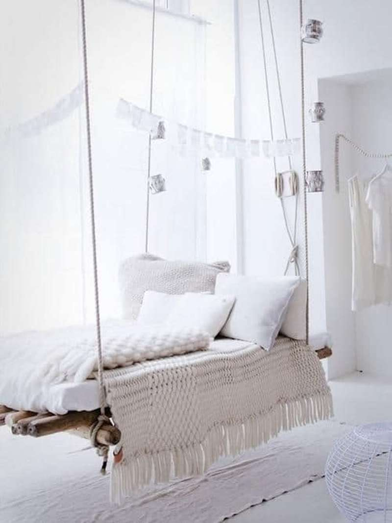 Bohemian Hanging Bed