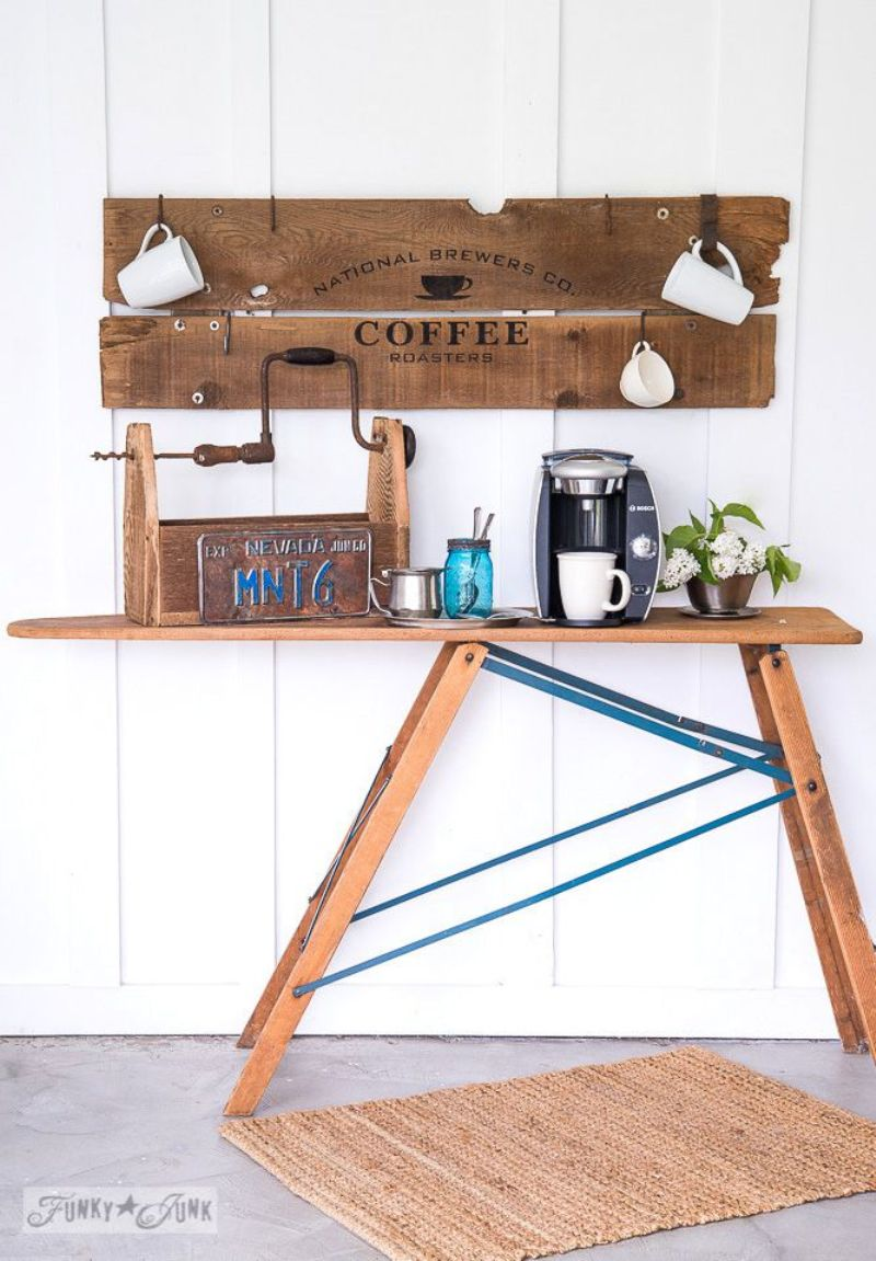 Coffee Bar With Salvaged Wood