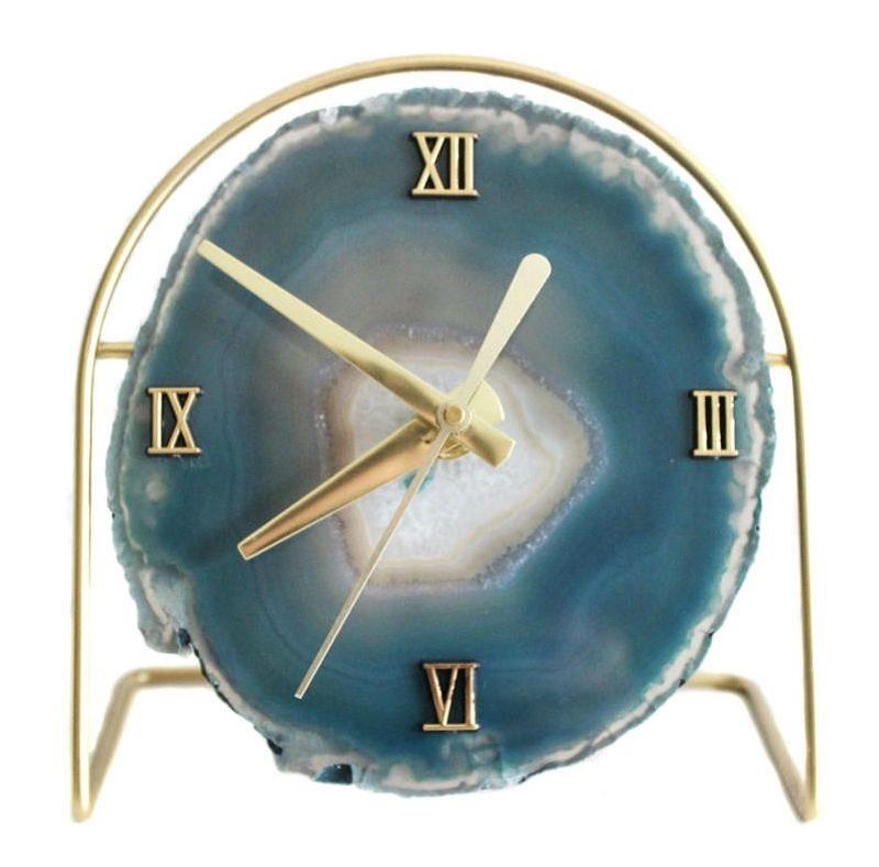 Elegant Agate Clock