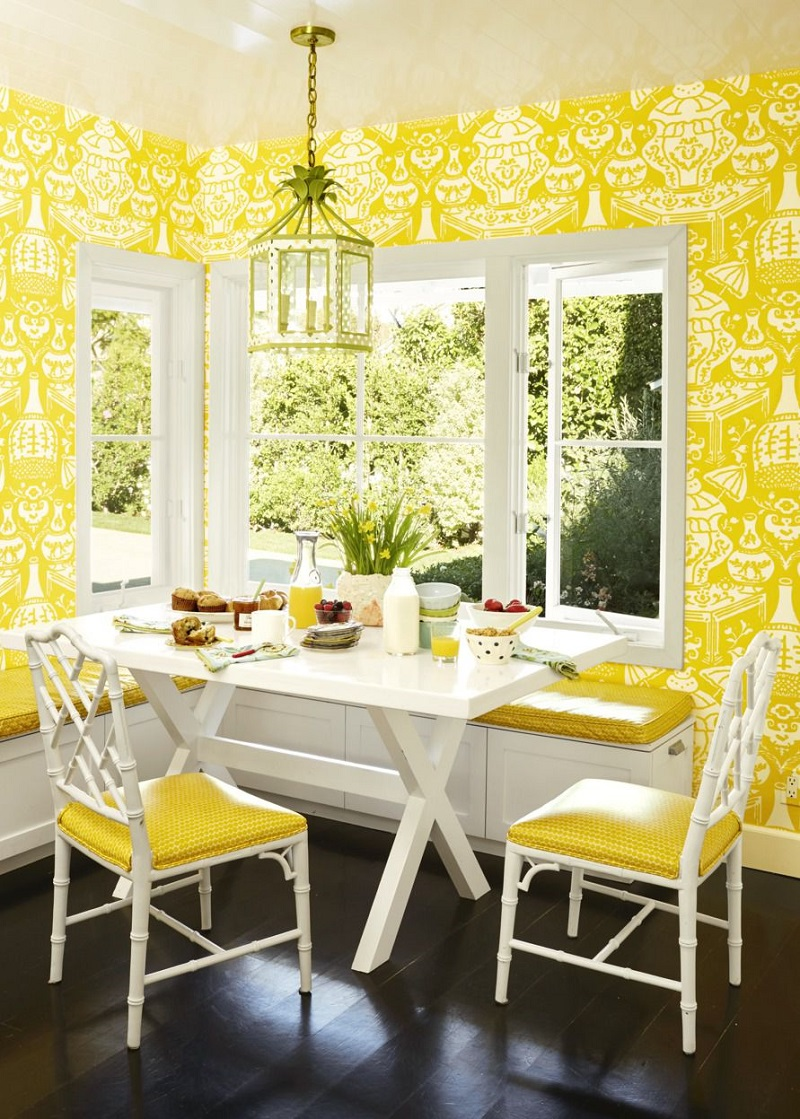Eye Catching Yellow Wallpaper