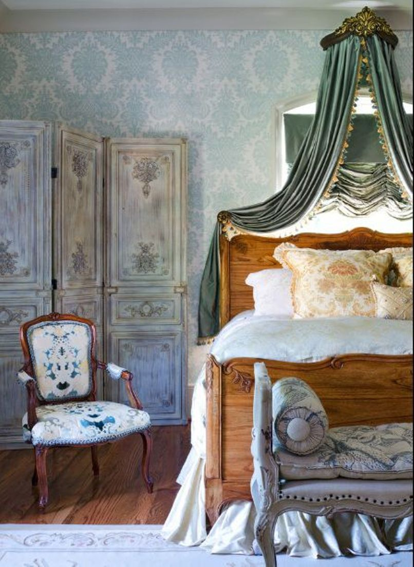 French Country Bedroom With Luxurious Touch