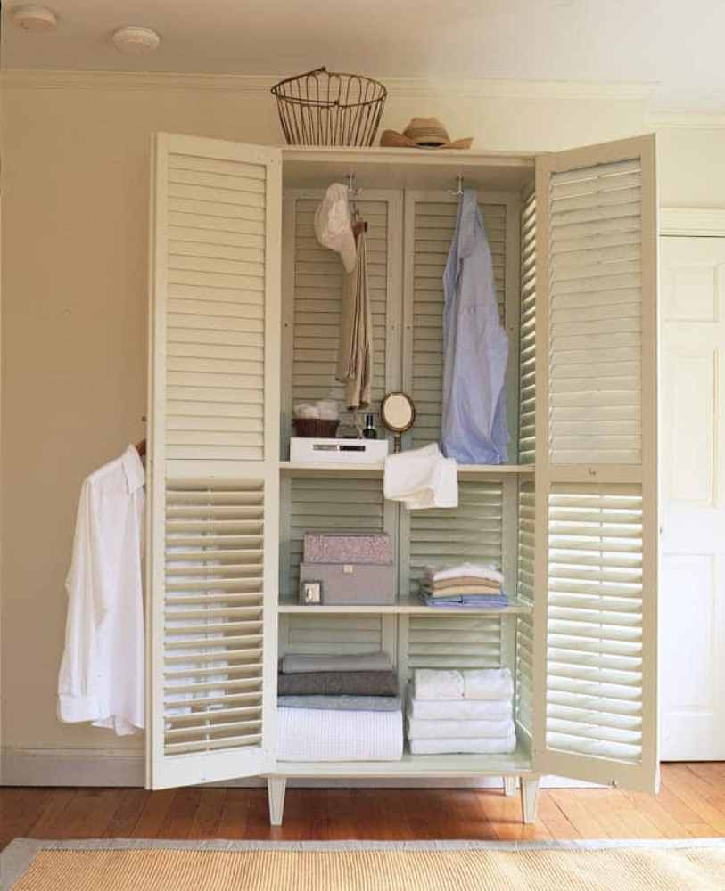 Make A Closet From Window Shutter